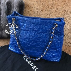 CHANEL Bags   Authentic Patent Leather Puzzle Tote   Poshmark bdaf3b1e05