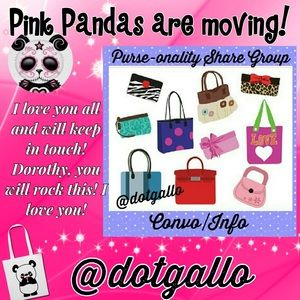 Moving to @dotgallo TODAY!😘👛💗Love You! 💕🐼💕