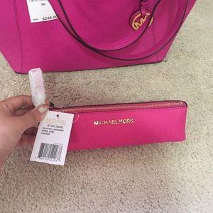 Michael Kors Handbags - Michael Michael Kors Jet Set Pencil Case