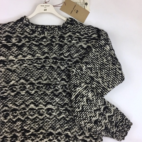 Isabel Marant pour H&M Sweaters - Isabel Marant Black & White Chunky Wool Sweater
