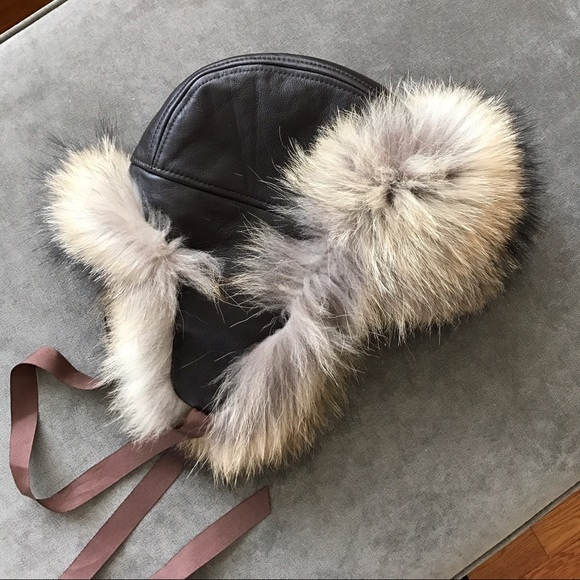 d800aab3a56 Arctic Store Accessories - Real Leather and Fur Aviator Hat