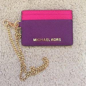 Michael Kors Handbags - Michael Michael Kors Jet Set Chain Card Case