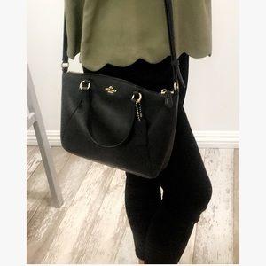 Black coach purse. Cross body