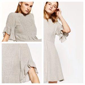 Zara Gold Shimmer Thread Dress
