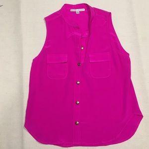 Amanda Uprichard Tops - Amanda Uprichard Sleeveless Pink Button Down