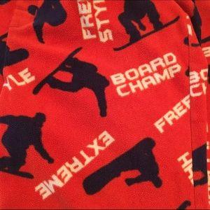 GAP Other - Gap kids pajama bottoms size large fleece orange