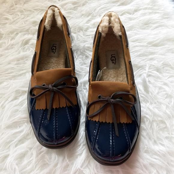5ae69f427d9 NIB Ugg Australia Haylie lined boat shoe rain shoe NWT