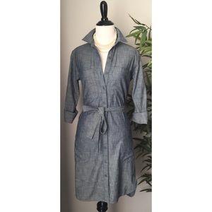 Gap Belted Chambray Shirt Dress NWOT