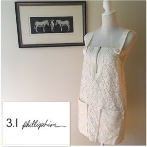 3.1 Phillip Lim Dresses & Skirts - 3.1 Phillip Lim Cream Floral Lace Shift small 4