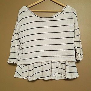 Anthropologie Sweaters - GUC Anthropologie Peplum Sweater M