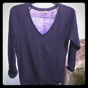 Aritzia Tops - Aritzia TNA Purple V Neck Comfy Long Sleeve top