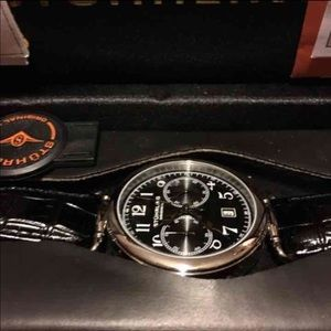 Stuhrling Original Other - Stuhrling Black Crocodile Strap Watch