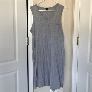 JCREW mid maxi grey dress size L