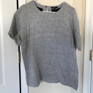 Madewell grey oversized top size S