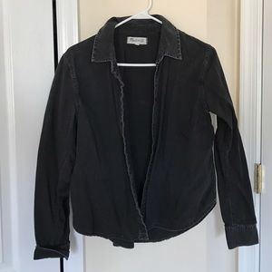 Madewell black denim button up size M