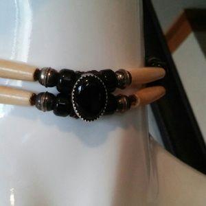 Jewelry - Vintage Black onyx choker