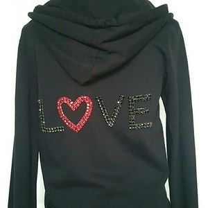 TWISTED HEART Tops - NWT Twisted Heart *Love* Hoody Medium