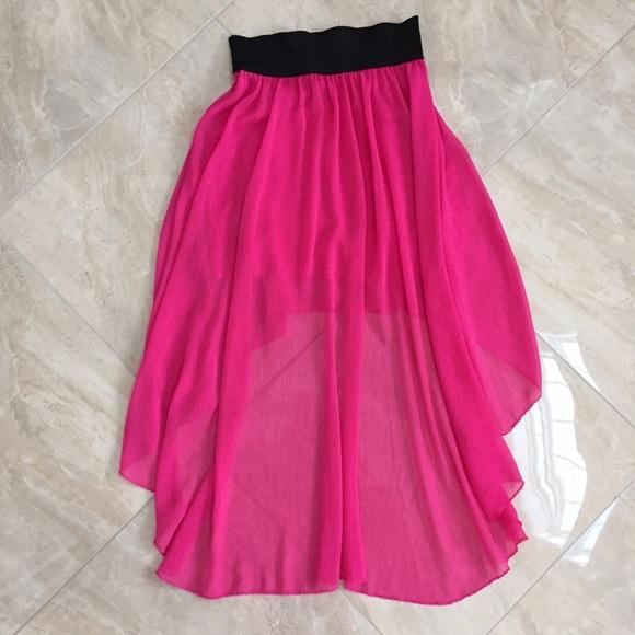 55 dresses skirts pink high low skirt from kara