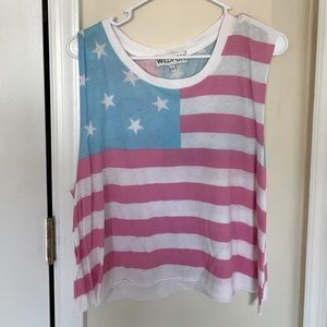 Wildflox American Stars and Stripes crop top L