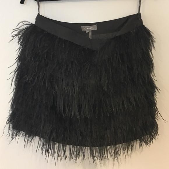 1dd3932517 Gracia Skirts | Feather Skirt | Poshmark