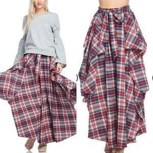 Dresses & Skirts - Pleated Plaid Skirt