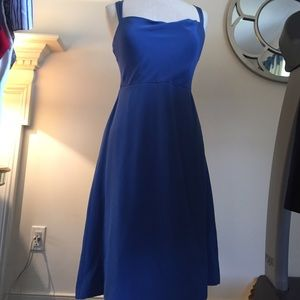 NWT blue silk J. Crew dress size 2