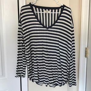 Madewell oversized striped top M