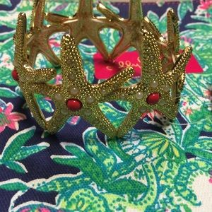 Lilly Pulitzer Starfish Cuff in Gold Metallic Cora