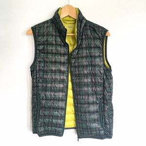 Uniqlo Ultra Light Down Plaid Vest