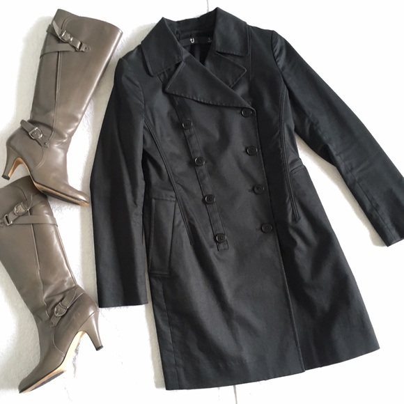Uniqlo Jackets & Blazers - Jil Sander +J Black Cotton Trench Coat