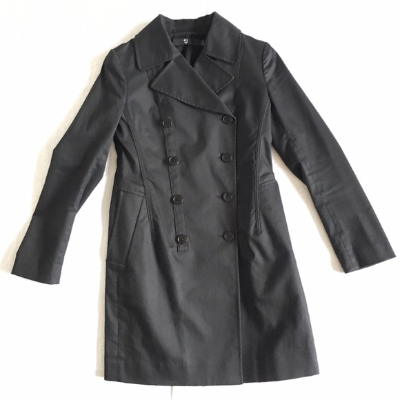 Uniqlo Jackets & Coats - Jil Sander +J Black Cotton Trench Coat