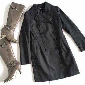 Jil Sander +J Black Cotton Trench Coat