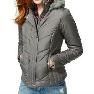Krush Jackets & Blazers - Krush Puffer faux fur trim jacket