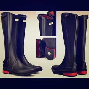 Hunter Boots Other - Hunter Limited Ed Wellesley Rubber Riding Boots💕