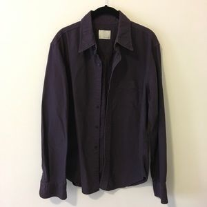 Band Of Outsiders Tops - Band Of Outsiders Plum Cotton Button Down Shirt