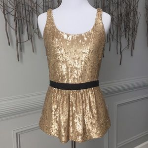Burberry Tops - NWT! Burberry Vintage Gold Sequin Top