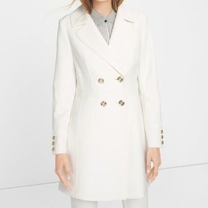 White House Black Market White Coat