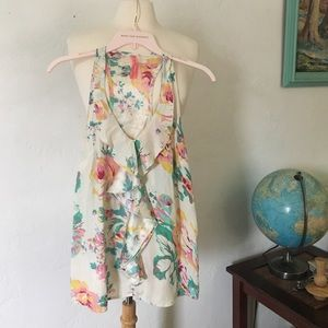 Eight Sixty Tops - Floral Silk Boho Top