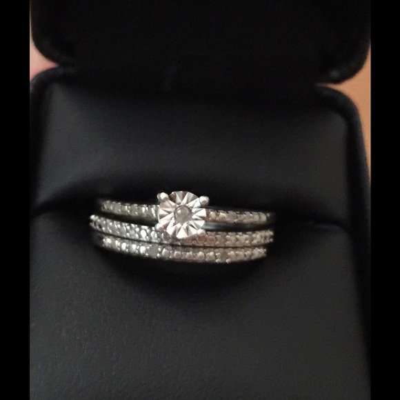 4cbcd65385 Jewelry | Natural 065 Ct Diamonds Wedding Ring Two Bands | Poshmark