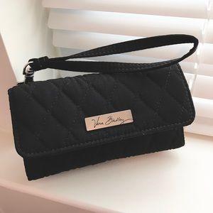 Vera Bradley Handbags - EUC Black Vera Bradley Wristlet