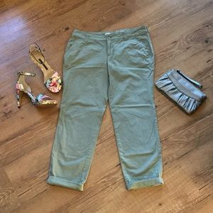 Olive green boyfriend pants