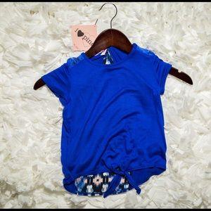 Pinc Premium Other - Pinc Little Girls 5 Royal Blue High-Low Top