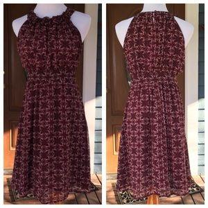 Romy Dresses & Skirts - ROMY Purple Rosette Halter Dress