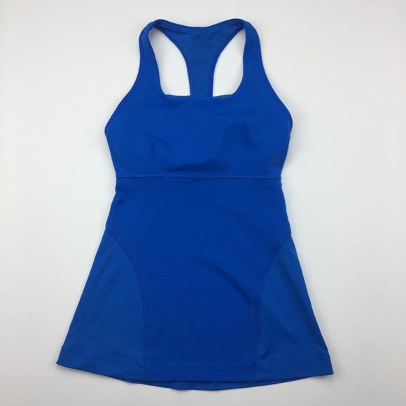a7e09d7129ea1 lululemon athletica Tops - Lululemon Blue Racerback Bra Top Tank