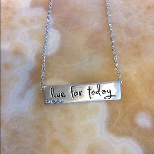 Lifenote Motivational necklace with CZ detail