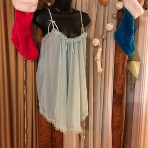 "Betsey Johnson double layer chemise BNWT ""blue"""