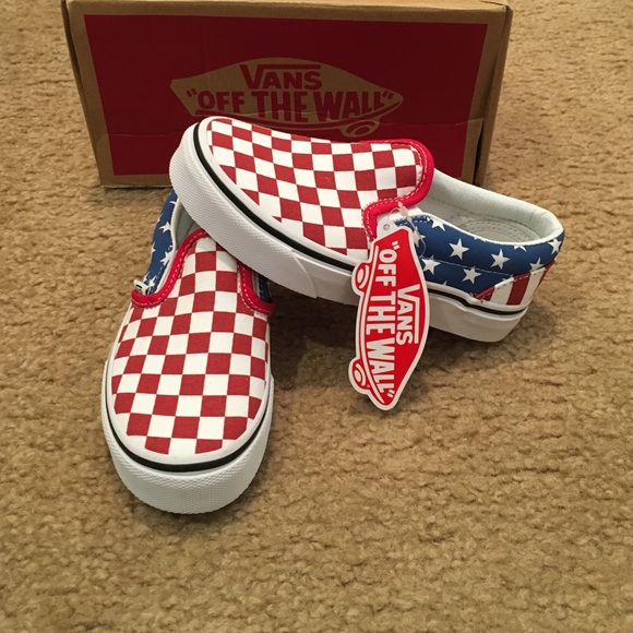 376c1a3556 Stars   Stripes Classic Slip On Vans