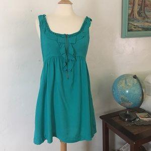 Kimchi Blue Dresses & Skirts - Kimchi Blue Ruffle Teal Boho Dress