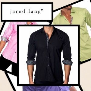 Jared Lang Other - JARED LANG Black Solid Woven Sportshirt Size 2XL