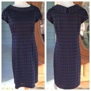 Jones New York Dresses & Skirts - JONES NY Blue/Black Houndstooth Dress